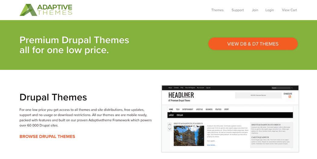 The Adaptive Themes website.