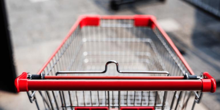 A shopping cart.