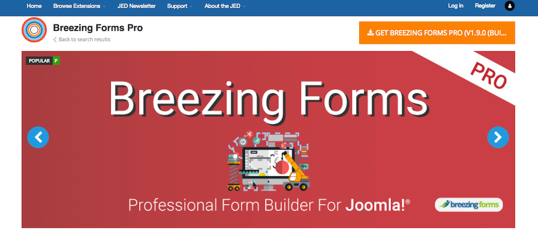 The Breezing Forms extension.