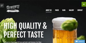 The Brewery Responsive Joomla template.
