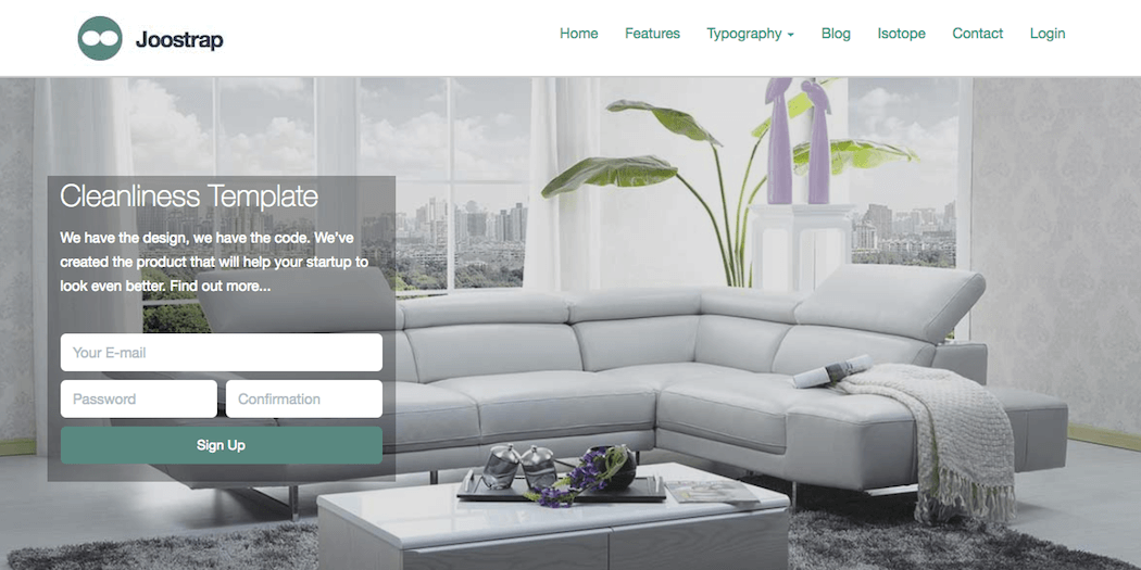 The Cleanliness Joomla template.