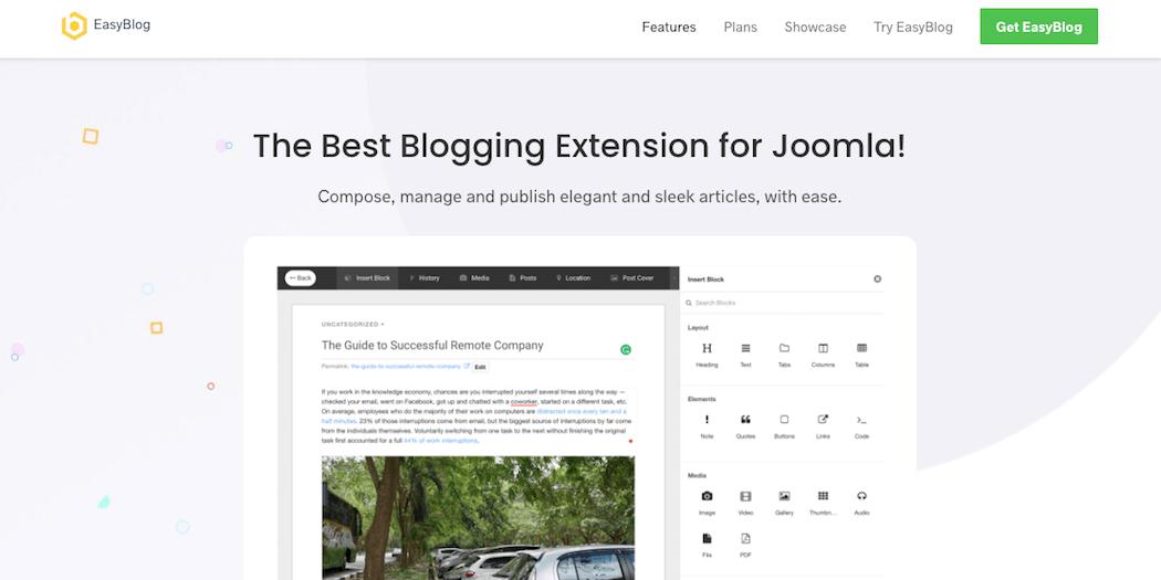 The EasyBlog extension.