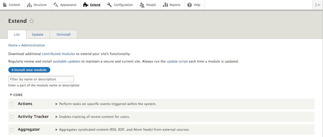 The Drupal module page.