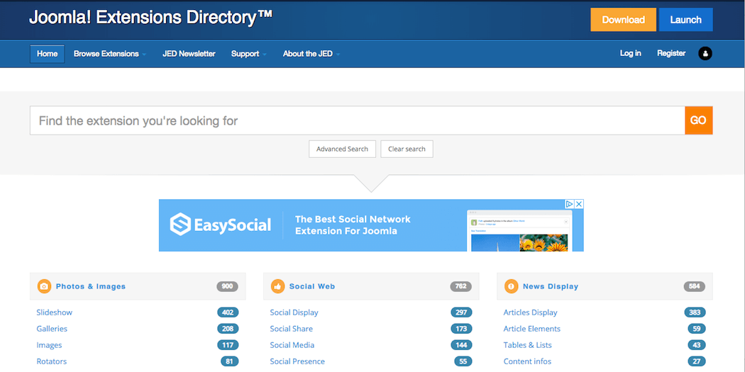 The Joomla extension directory.