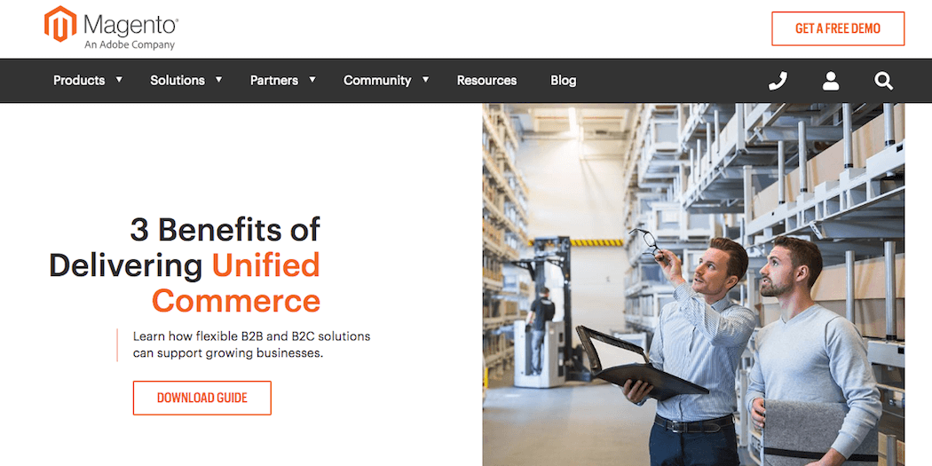 The Magento website.