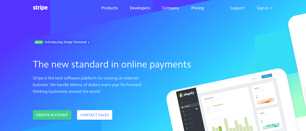 The Stripe website.