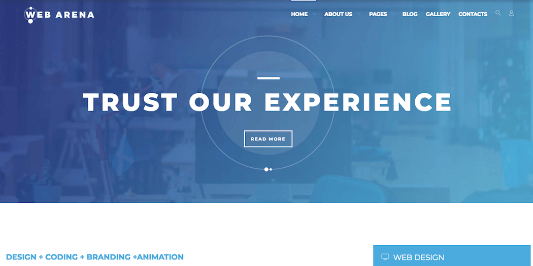 The TopDog Joomla template.