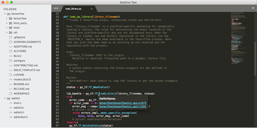 An example of a code editor.