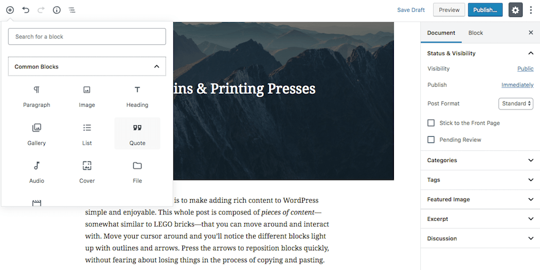 WordPress Editor: WordPress Gutenberg Editor vs  Classic Editor