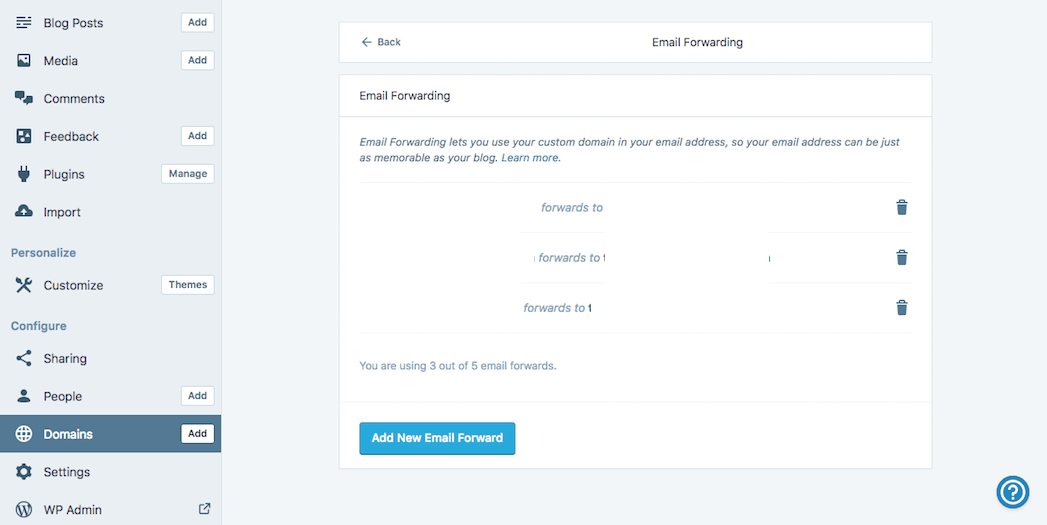 Forwarding an email address to A2 Hosting.