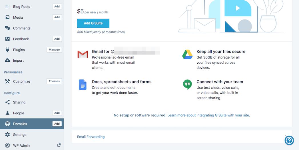 Forwarding a WordPress email address.