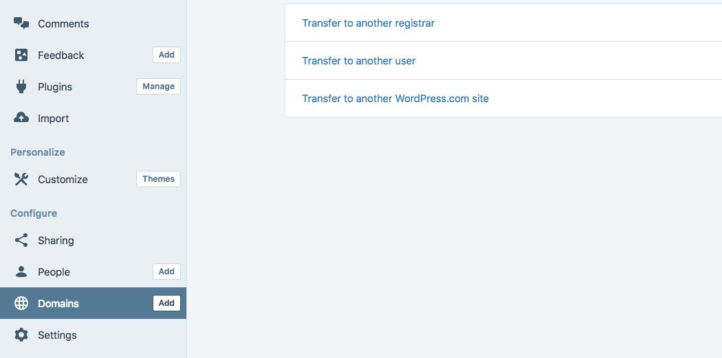 Transfering a WordPress domain.