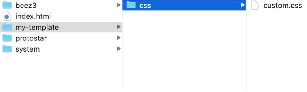 Joomla files.