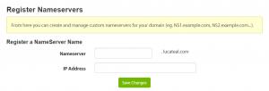 Registering a new nameserver.
