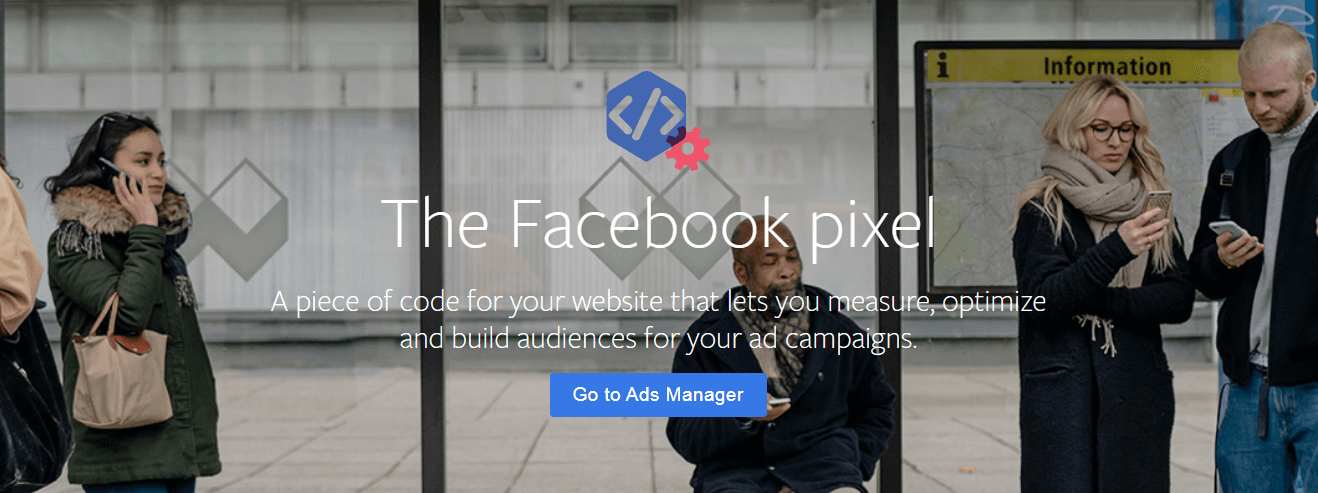 The Facebook pixel website.