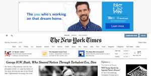 An example of Google AdSense ads.