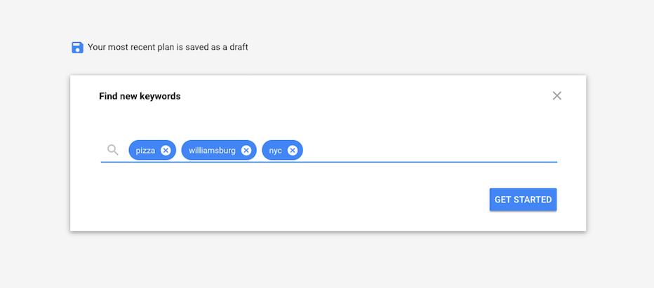 A keyword search.