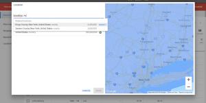 A Google keyword map.