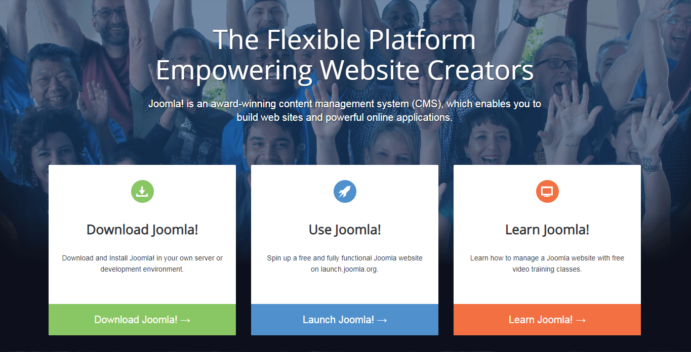 The Joomla.org website.