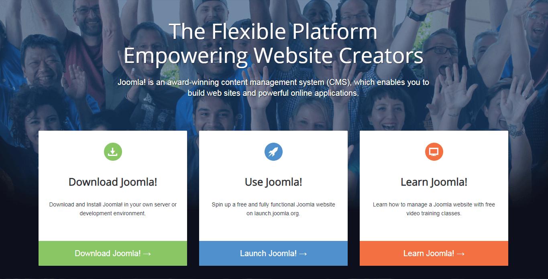 The Joomla.org website.