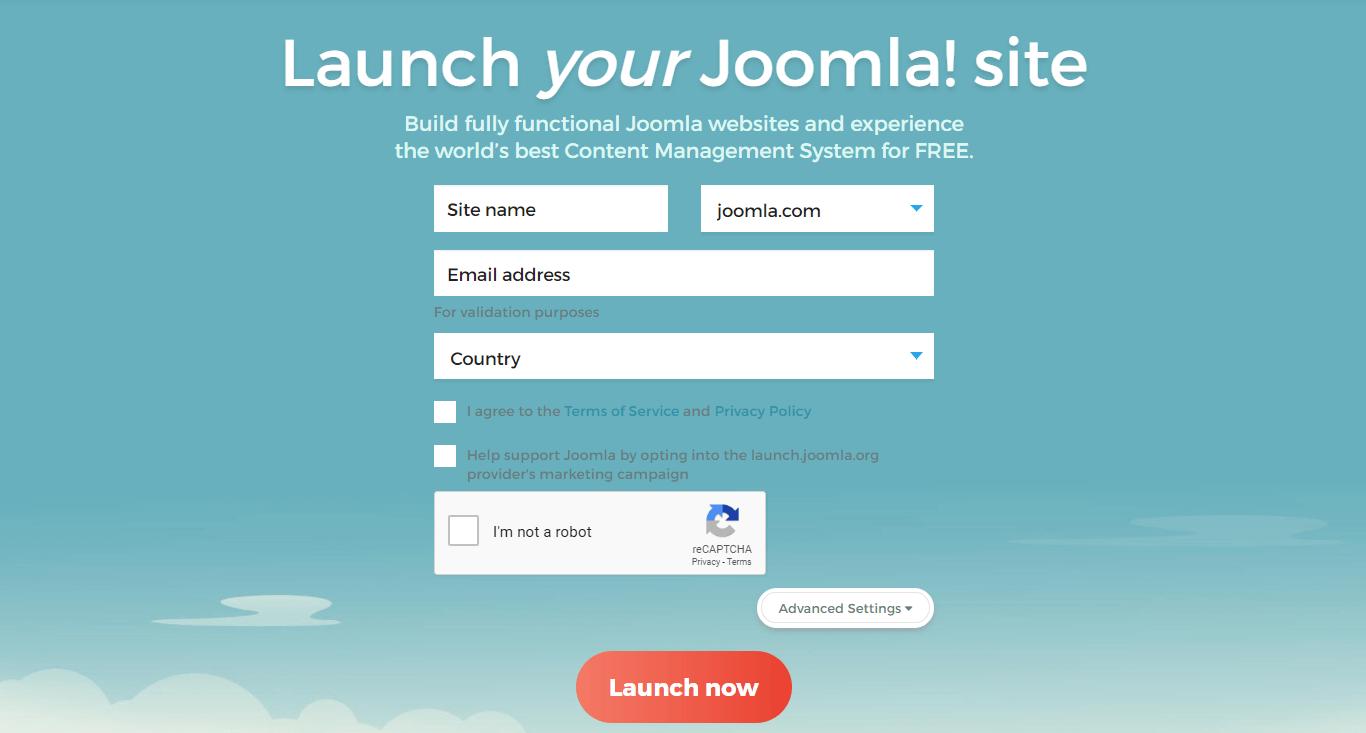The Joomla.com website.