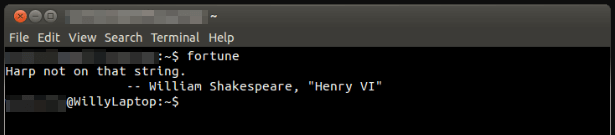 The command line interface.