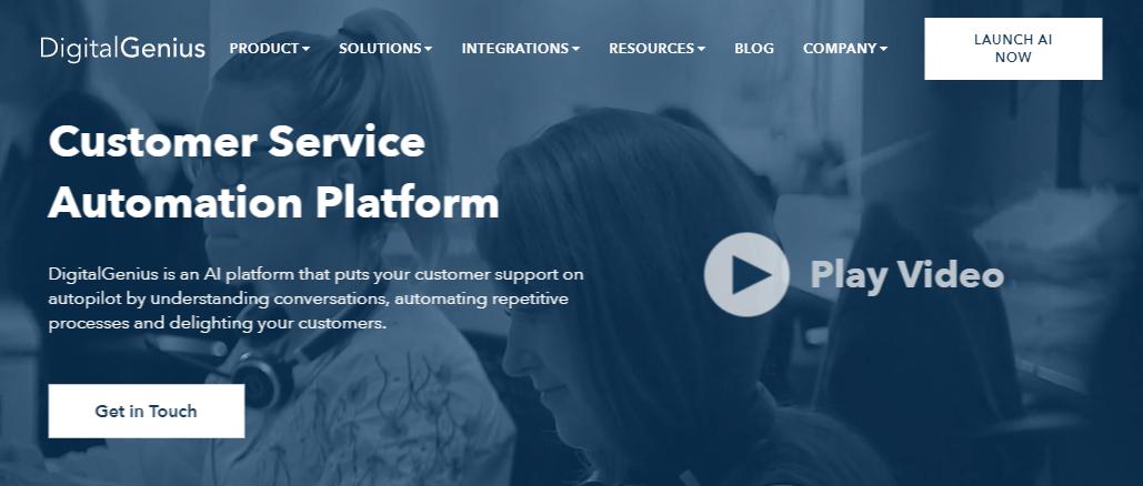 The Digital Genius website.
