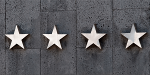 Four stars on a wall.