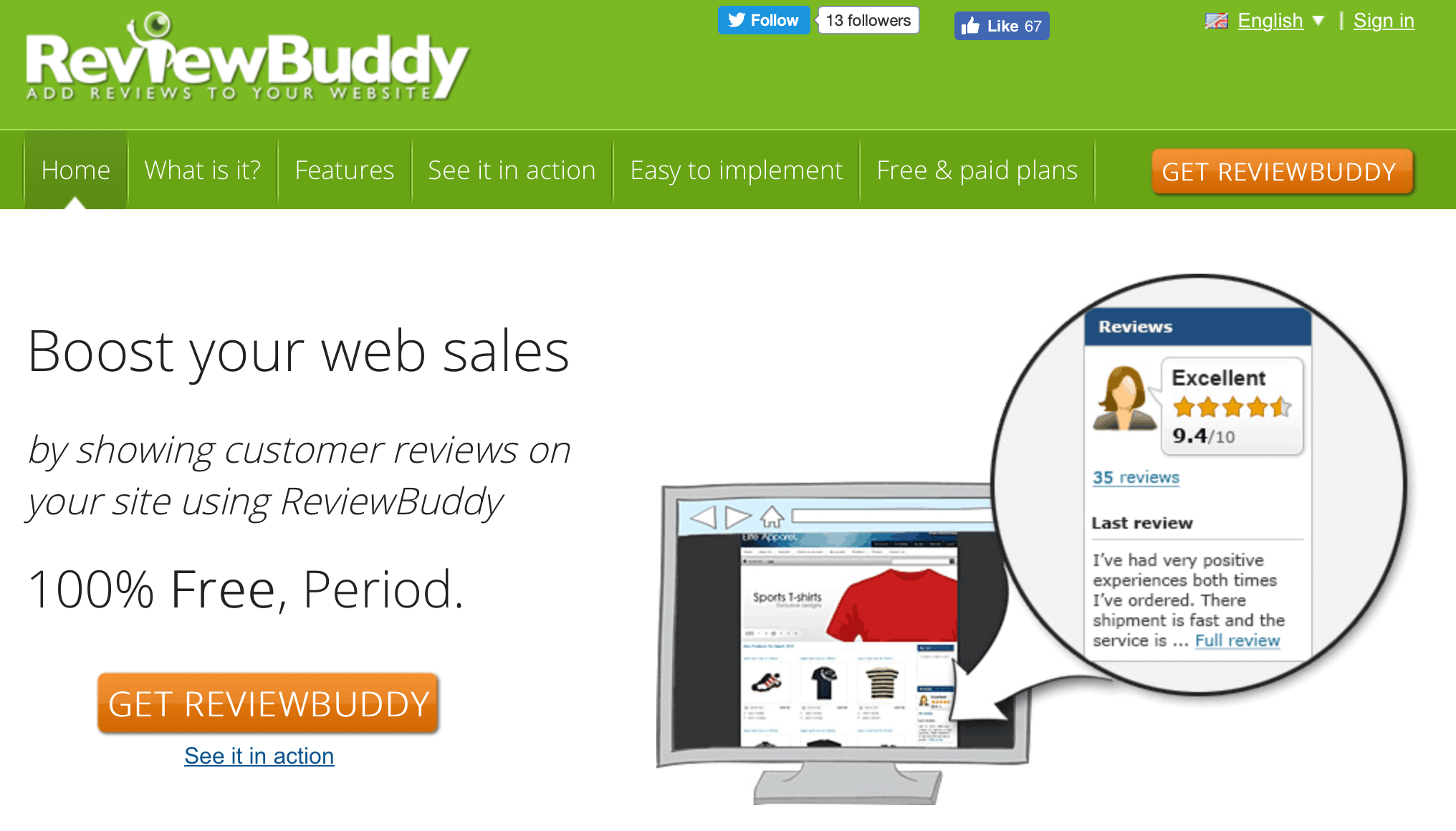The ReviewBuddy website.