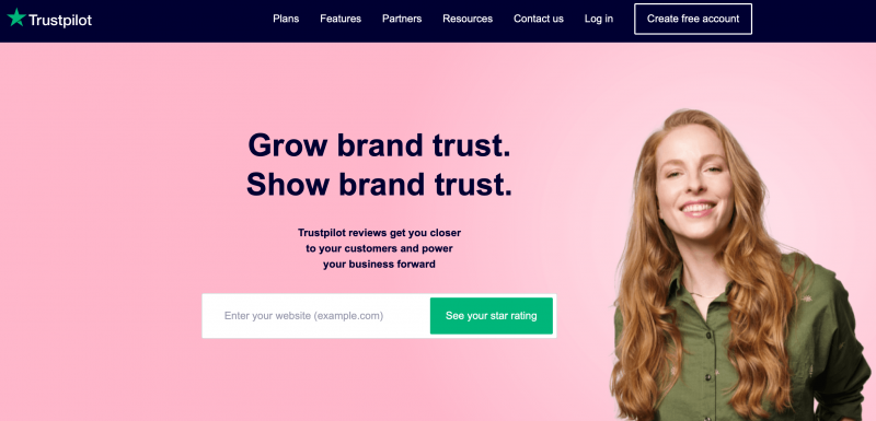 The Trustpilot website.