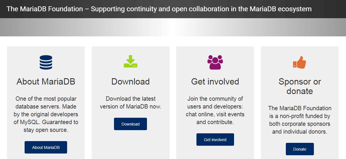 The MariaDB website.