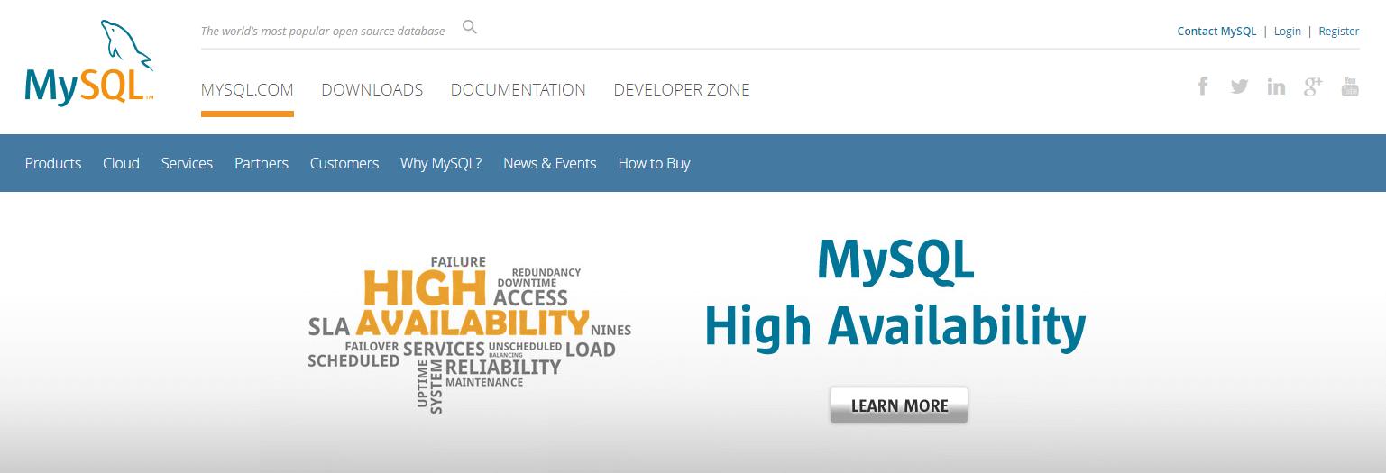 The MySQL website.
