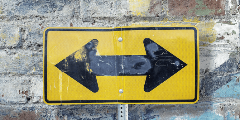 A two-way sign.