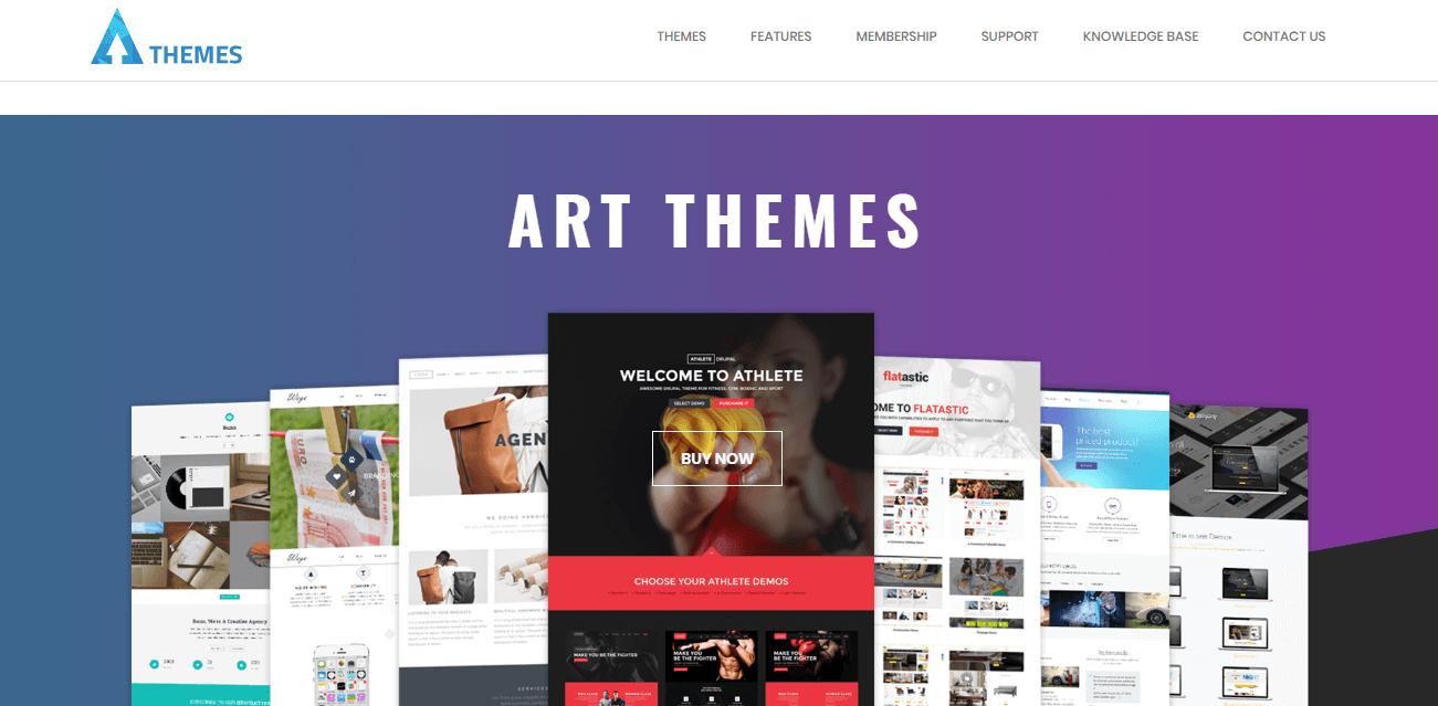 The ArrowThemes website.