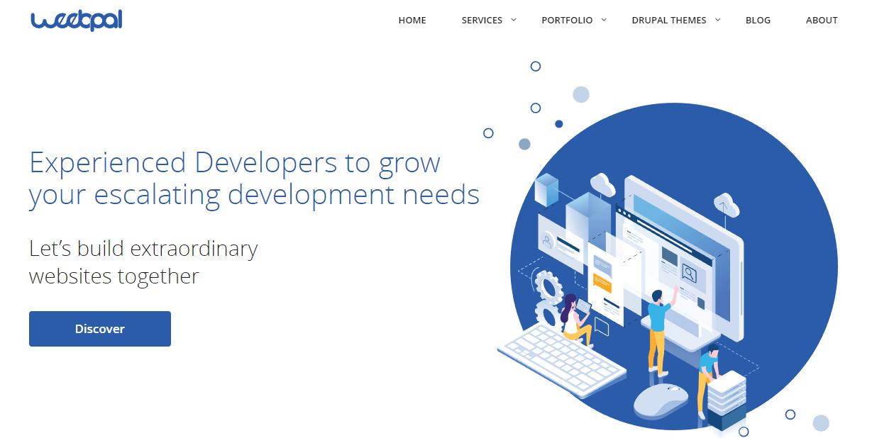 The WeebPal website.