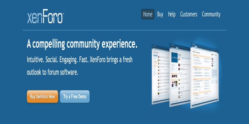 The XenForo home page.