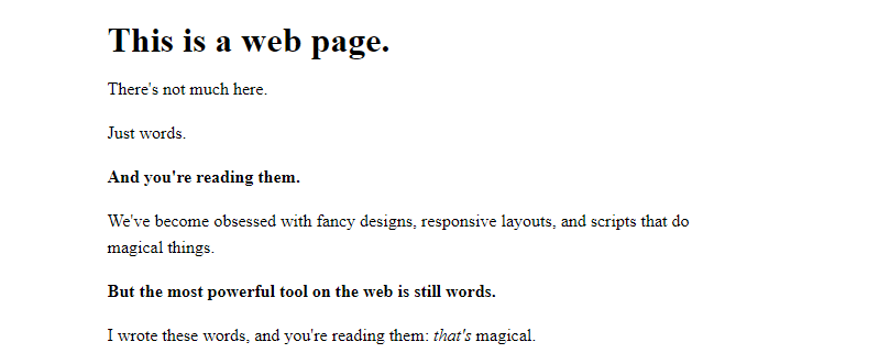 This is a web page.