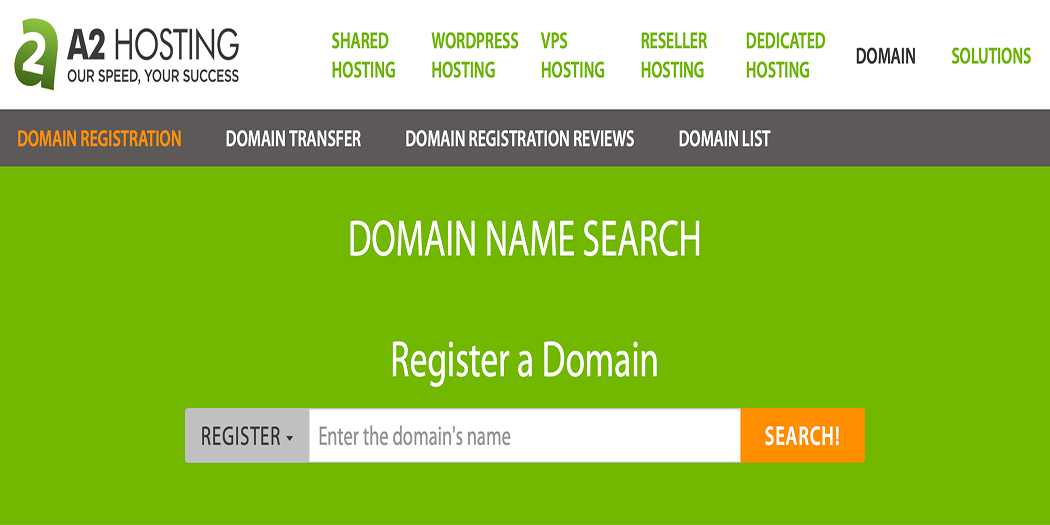 Registering a domain name.