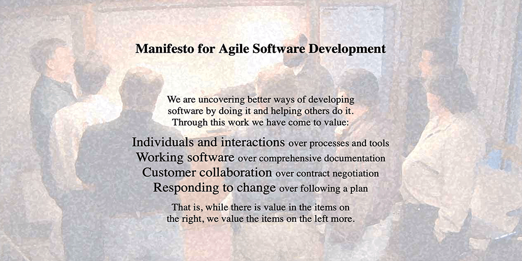 The Agile Development method.