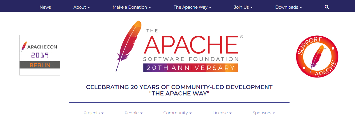The Apache website.