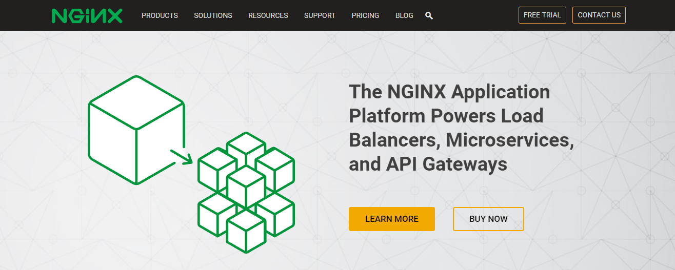 The NGINX website.
