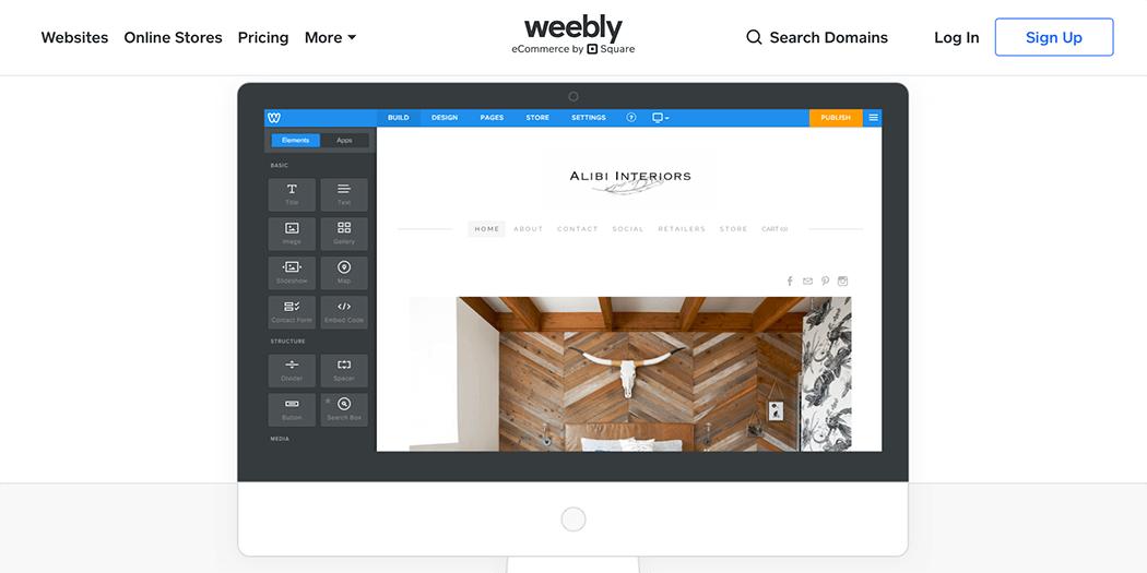 The Weebly website builder.