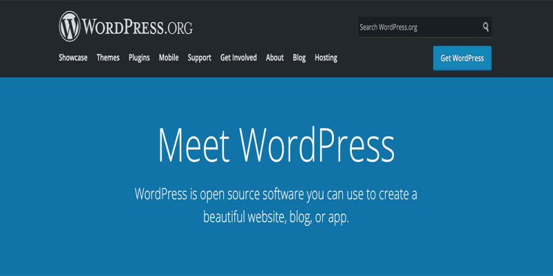 Wordpress.org is a content management system (CMS).