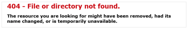 A generic 404 error page.