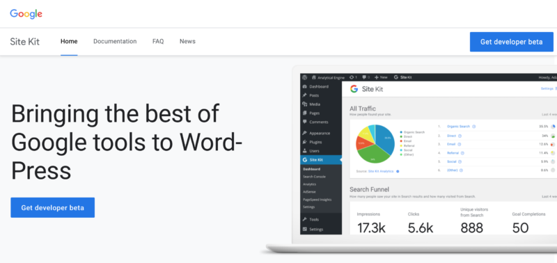 Introducing SiteKit by Google.