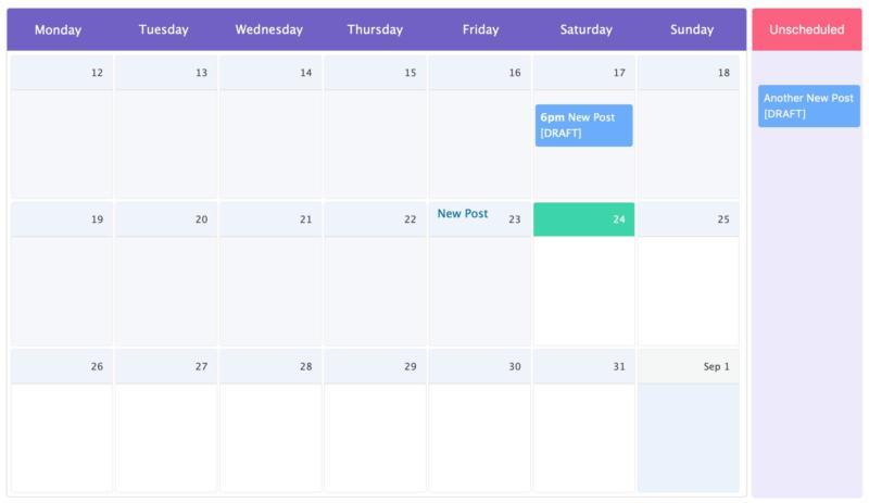 The WP Scheduled Posts calendar.