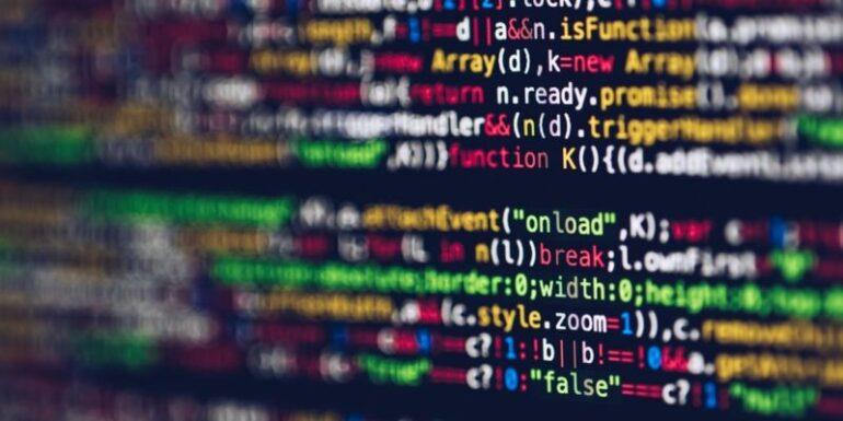 A computer screen full of code.