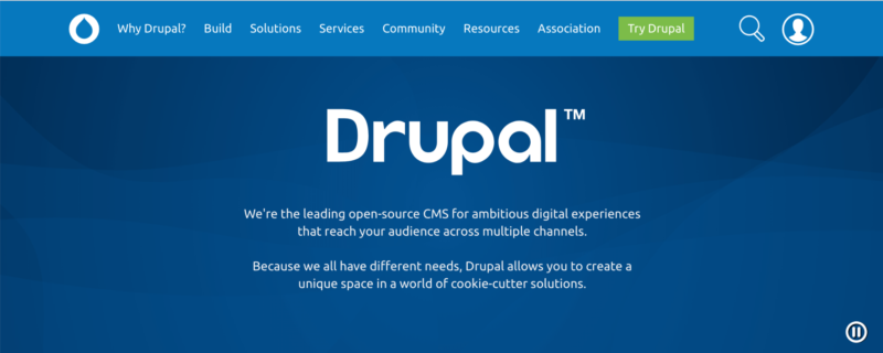 The Drupal home page.
