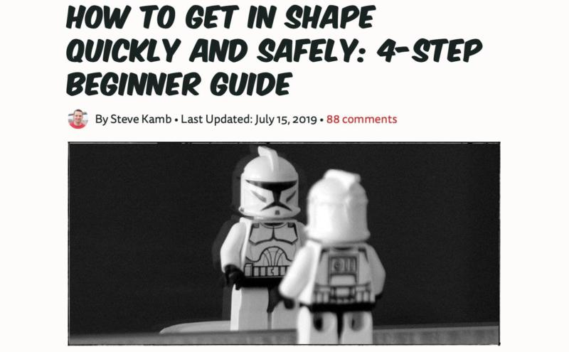 A NerdFitness blog post about how to get in shape.