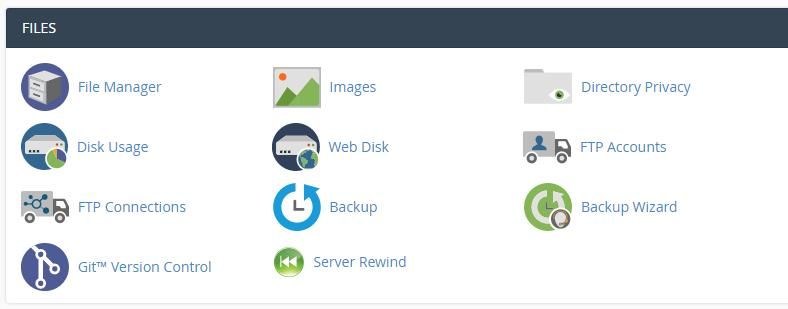 Using the cPanel File Manager.